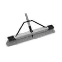 """1434 by LAITNER BRUSH PRODUCTS - Outdoor Push Broom, 24"""" Wide, with 3"""" Stiff Inner Bristles, Fine Outer Bristles, 60"""" Handle"""