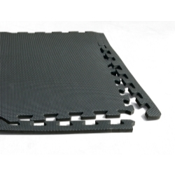 "AFWM6 by LARIN CORPORATION - Anti Fatigue Work Mats, 3/8"" Thick Foam, Water Resistant, Interlocking, 24 Square Feet per Pack"