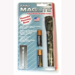 M2A026 by MAG INSTRUMENT - Mini Maglite, Camouflage, 2 AA Batteries, Blister Pack