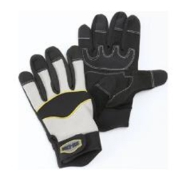 MTG511 by PCL INC - Multi-Task Protective Work Gloves, Flexible, PVC Reinforced Finger Tips and Palm, One Size Fits Most