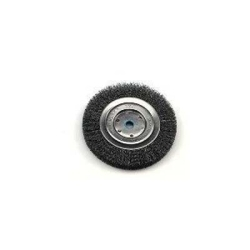"""36000 by WEILER - Bench Grinder Wire Wheel, 6"""" Diameter, Coarse Crimped Wire, Narrow Face, 5/8"""" to 1/2"""" Arbor"""