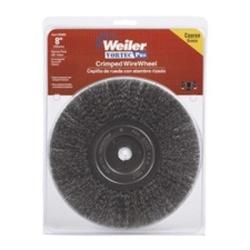 "36005 by WEILER - Bench Grinder Wire Wheel, 8"" Diameter, Coarse Crimped Wire, Narrow Face, 5/8"" Arbor"