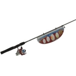 HLS20C,08,NS3 by ZEBCO - Hook, Line, and Sinker Spinning Fishing Rod and Reel Combo With Tackle