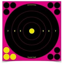 "34828 by BIRCHWOOD CASEY - Shoot•N•C® 8"" Pink Bull's Eye Targets, Pack of 30"