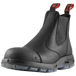 """USBBKSC13 by REDBACK BOOTS USA - Easy Escape 6"""" Slip-On Steel Toe Scuff Cap 13UK (14 US)"""