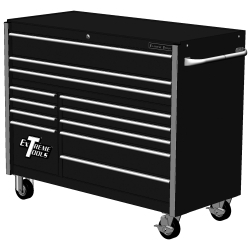 """RX552512RCBK by EXTREME TOOLS - Extreme Tools 55"""" 12-Drawer Roller Cabinet, Black"""