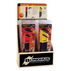 67098 by BONDHUS CORP. - 10 Double Ball End Stubby L-Wrench Sets Display