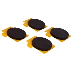 FJ6138BK by ROTARY LIFT - Set of Four Round Polymer Ddapters
