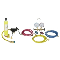 48134B-DYEKIT by ROBINAIR - R134A/R12 Manifold and UV Combo Kit