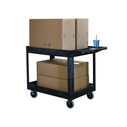 XLC11-B by LUXOR - Two Shelf Heavy Duty Utility Cart