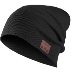 VG001-BK by MOUNTAIN - Bluetooth Knit Beanie - Black