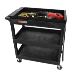 EC111-B-TOOLBOX by LUXOR - 32 x 18 Tub Cart - Two Shelves with Toolbox