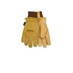 94HK-XL by KINCO INTERNATIONAL - Grain & Suede Pigskin Driver Glove with Heatkeep®