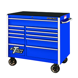 """RX412511RCBL by EXTREME TOOLS - Extreme Tools 41"""" 11-Drawer Roller Cabinet, Blue"""
