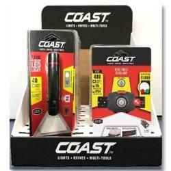 21872 by COAST - 9PC Counter Display Flashlights