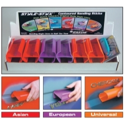 0802-10 by STYLE LINE - 6 Piece Contoured Sanding Sticks Foreign Set - 10 in.