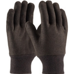 WA7530A by PROTECTIVE INDUSTRIAL - Men's Brown Jersey Gloves, Light Weight Cotton, with Knit Wrist, 8 oz Weight
