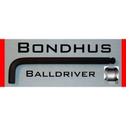 """15752 by BONDHUS CORP. - Hex Ball End Wrench, 2mm, Long Length, L Shaped, 3.2"""" Long, with Hang Tab"""