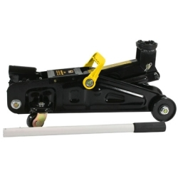 """FJ2 by NEW BUFFALO CORPORATION - Trolley Floor Jack, 2 Ton Capacity, 5"""" to 12"""" Lifting Range, with Quick Release Valve"""