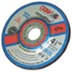 """35620 by CGW ABRASIVE - Depressed Center Grinding Wheel, T27, 4-1/2"""" x 1/4"""" x 7/8"""" Arbor, A24R for Metal, 13,300 RPM"""