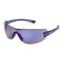 19GY83 by GATEWAY SAFETY - Safety Glasses, Luminary, Wraparound Gray Anti-Scratch Lens, Silver Temple, Lightweight