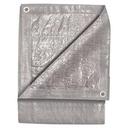 6295 by MICHIGAN IND TOOLS - Standard Duty Silver Tarp, 8' x 10', Two Layer Polyethylene, Reinforced Hem Edge, Aluminum Grommets