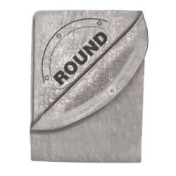 6392 by MICHIGAN IND TOOLS - 24' x 24' Silver Tarp - Round