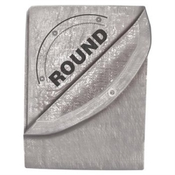 6420 by MICHIGAN IND TOOLS - 33' x 33' Silver Tarp - Round