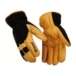 101HKL by KINCO INTERNATIONAL - Cold Weather Gloves, Deerskin Palm, Spandex Back, Easy-On Cuff, Heatkeep Thermal Lining, Large