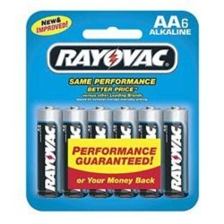 815-6 by RAYOVAC BATTERIES - Alkaline Batteries, AA Cell, 6 Pack, Carded