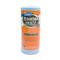 "192160 by SCA TISSUE - Tork Advanced Shop Max DRC Wipers Blue Roll  - 10.4x11"" - 1 - 30/60 count"