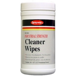"963 by SPRAYWAY - Industrial Strength Cleaner Pre-moistened Wipes 9.5"" x 12""  in Tub (40 wipes)"