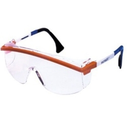 S129 by UVEX - Ultra-Dura Anti Scratch Protective Eyewear, Clear Lens Tint, Blue Frame