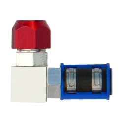 """76721 by AIRSEPT - Smart Splice 90° A/C Connector - 1/2"""" Line to # 8 Hose"""