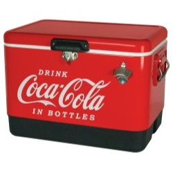 CCIC-54R by TOTAL CHEF - 54 Quart Coca Cola Metal Ice Chest - Red