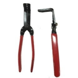 21725 by STECK - Right Angle Sure Grip Trim Clip Pliers