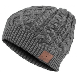 VG002-DG by MOUNTAIN - Bluetooth Cable Knit Beanie - Grey