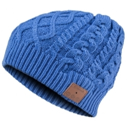 VG002-BL by MOUNTAIN - Bluetooth Cable Knit Beanie - Blue