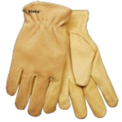 94WA-L by KINCO INTERNATIONAL - Grain & Suede Pigskin Driver, Easy-On™ Cuff, Keystone Thumb, Large
