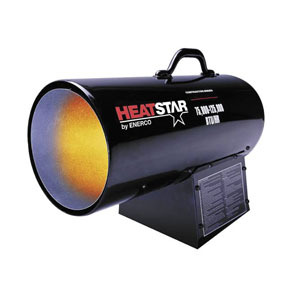F170125 by ENERCO - HD Portable Direct-Fired Forced Air Propane Heater, HS125FAV 75,000-125,000 BTU/HR