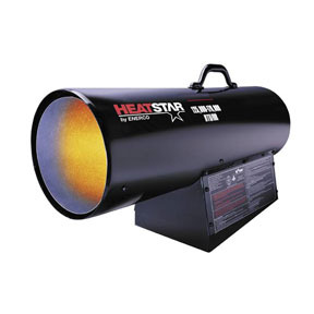 F170170 by ENERCO - HD Portable Direct-Fired Forced Air Propane Heater, HS170FAVT 125,000-170,000 BTU/HR