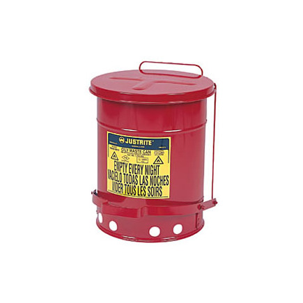 9300 by JUSTRITE - 10-Gallon Oily Waste Can for General Use