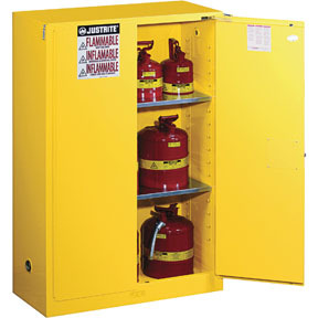 894520 by JUSTRITE - 45 Gallons Yellow Safety Cabinets for Flammables