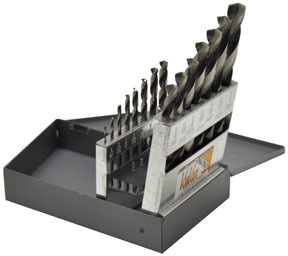"15KK5 by KNKUT - Fractional Jobber Length Drill Bit Set, 1/16-1/2"" by 32nds, 15pc"