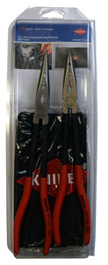 9K0080128US by KNIPEX - 2Pc XL Needle Nose Pliers Set