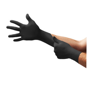 BD1000NPF by MICROFLEX - Black Dragon® Zero Powder-Free Nitrile Examination Gloves, Black, XS