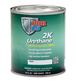 43504 by ABSOLUTE COATINGS (POR15) - 2K Urethane Paint, Clear, Quart