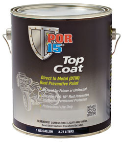 45901 by ABSOLUTE COATINGS (POR15) - Top Coat, Chassis Black, Gallon