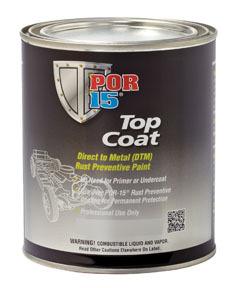 46008 by ABSOLUTE COATINGS (POR15) - Top Coat, Silver, Pint