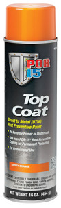 46218 by ABSOLUTE COATINGS (POR15) - Top Coat, Safety Orange, 16 oz. Spray